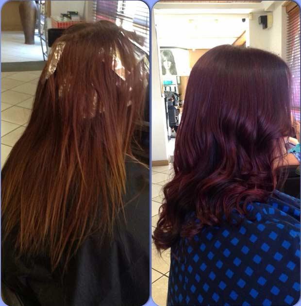 Wella Koleston Perfect 575 Hair Colar And Cut Style Of