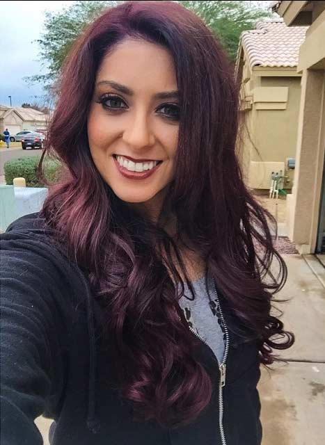 Brown Maroon Hair Color Hair Colar And Cut Style