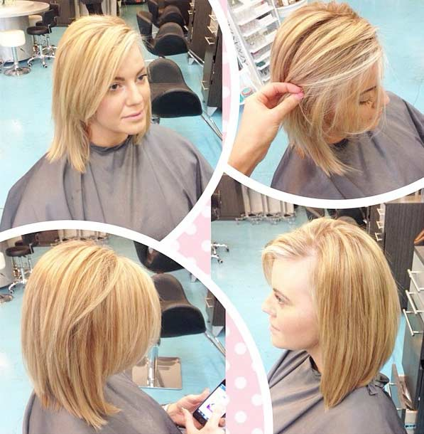 Blonde Bob Ombre Hair Colar Cut Style