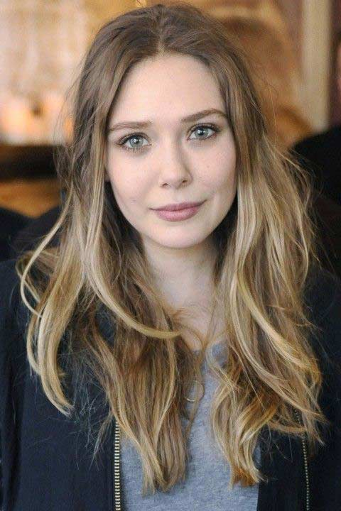 Olsen Elizabeth hair ombre exclusive photo