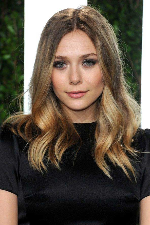 Fashion style Olsen Elizabeth hair ombre for woman