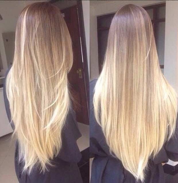 Blonde ombre hair colar and cut style - Ombre braun blond ...