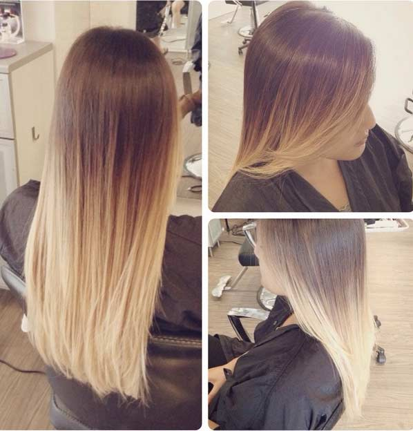 Blonde Ombre - Hair Colar And Cut Style