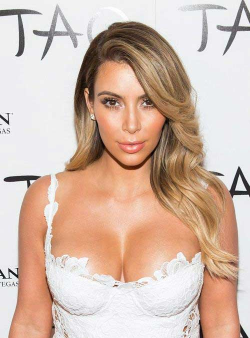 Kim Kardashian Blonde Hair Hair Colar And Cut Style