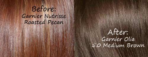Garnier Olia 5 0 Medium Brown Hair Colar And Cut Style