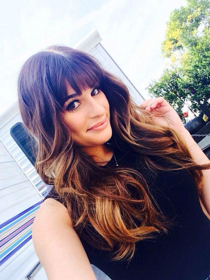 Lea Michele Hair Color Hair Colar And Cut Style