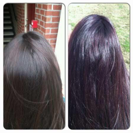 Garnier Olia 3 16 Darkest Violet Hair Colar And Cut Style