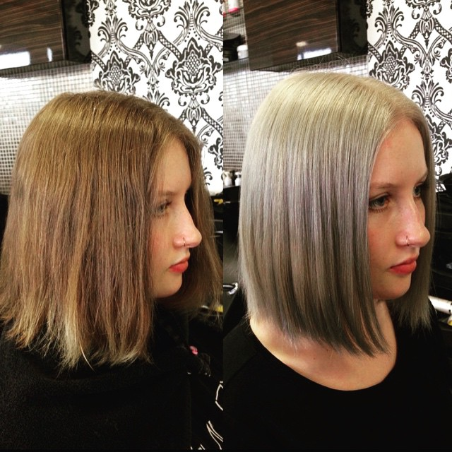 Ash Blonde Bob Hairstyles Hair Colar And Cut Style Of