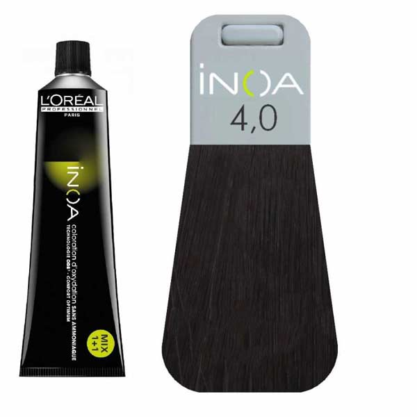L Oreal İnoa 4 0 Deep Cover Brown Hair Colar And Cut Style