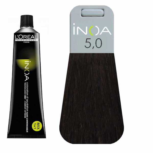 L Oreal İnoa 5 0 Deep Cover Light Brown Hair Colar And