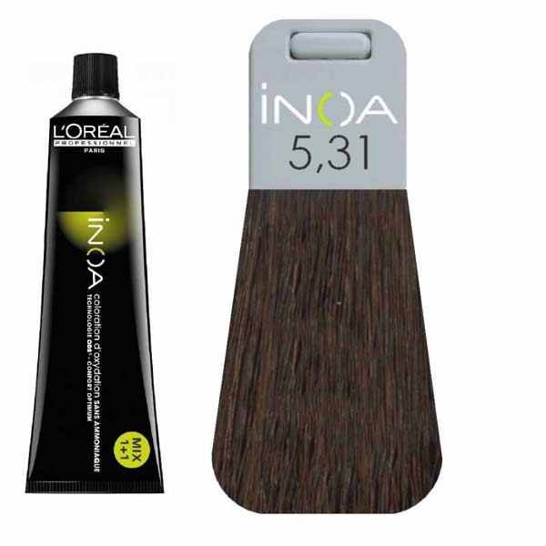 L Oreal İnoa 5 31 Light Golden Ash Brown Hair Colar And