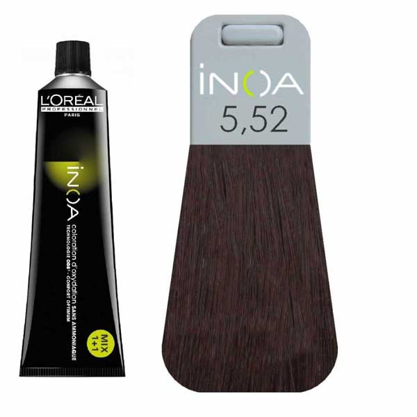 L Oreal İnoa 5 52 Light Mahogany Iridescent Brown Hair
