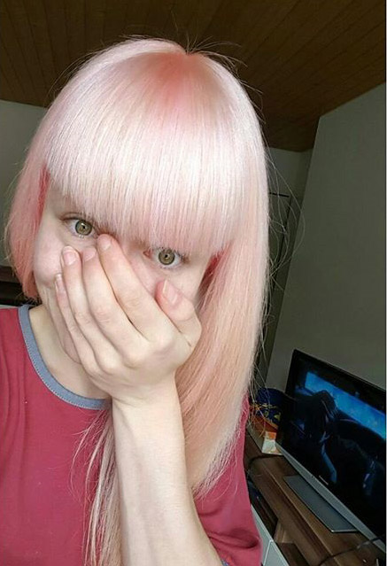 Directions Pastel Pink Hair Colar And Cut Style