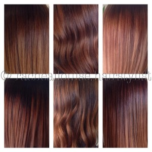 Comparison: Medium Brown on Caramel Hair Colour