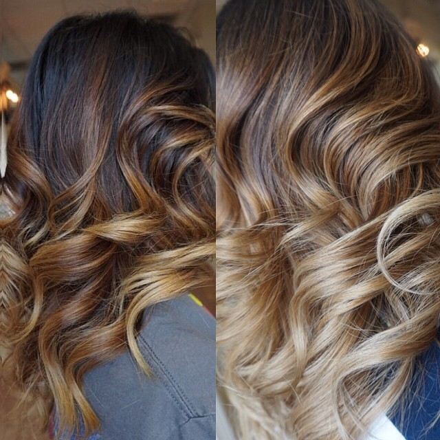 Brown And Caramel Highlights Hair Colar And Cut Style