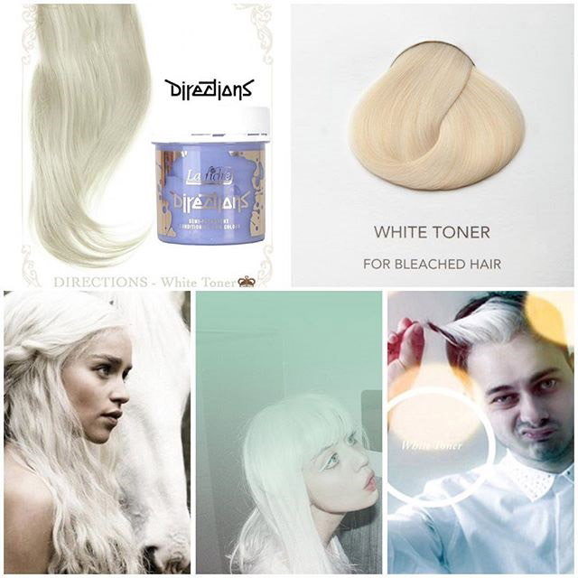 directions white toner hair colar and cut style
