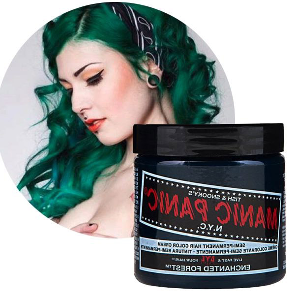 Manic Panic Enchanted Forest Hair Colar And Cut Style