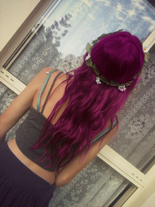 Manic Panic Fuschia Shock Hair Colar And Cut Style