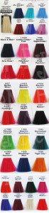 Manic Panic Hair Dye Chart