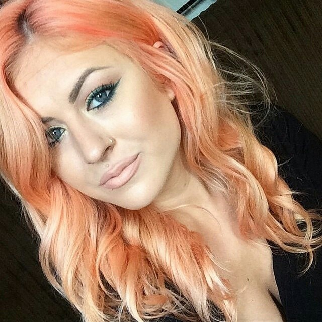 2015 Peach Hair Color Hair Colar And Cut Style