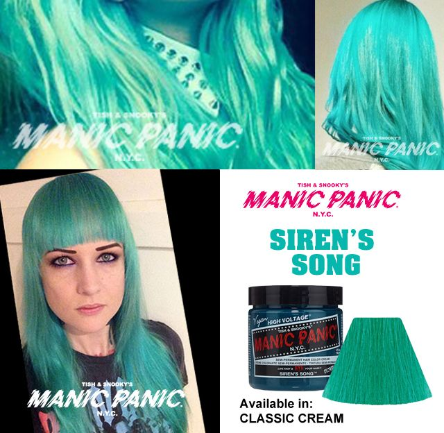 Manic Panic Siren's Song - Hair Colar And Cut Style Ombre Hair Blue And Green