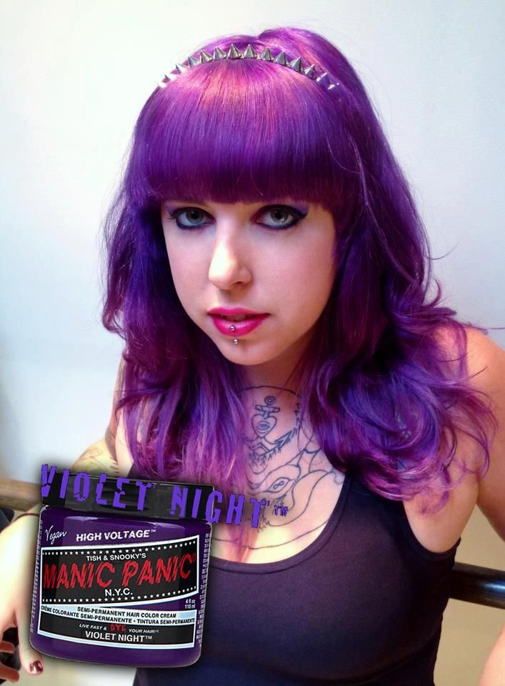 Manic Panic Violet Night Hair Colar And Cut Style