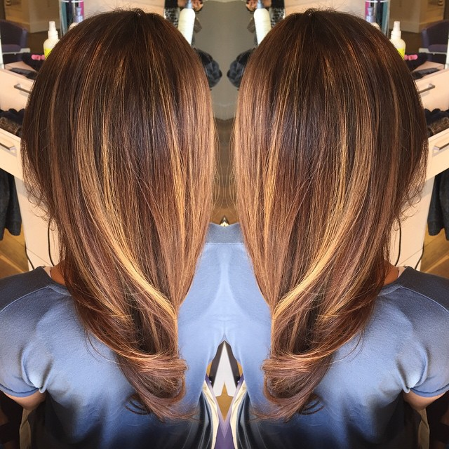 Brown Caramel Ombre Hair Hair Colar And Cut Style