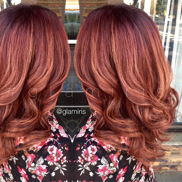 Caramel Copper Hair Color Hair Colar And Cut Style