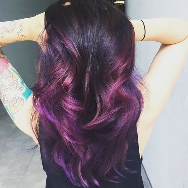 Eggplant Purple Hair Color Hair Colar And Cut Style