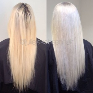 Before Very Light Blonde After Platinum