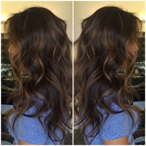 Dark brown Natural looking highlights Formula