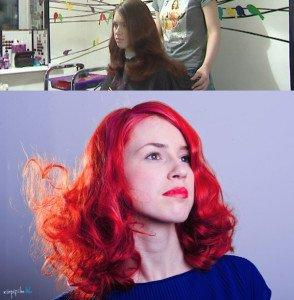 Red-Pink Hair Dye DIY