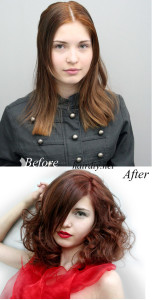 Before: Brown After: Red-Brown Hair DIY
