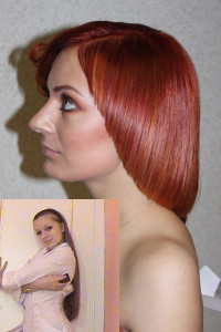 Copper Red Medium Hair Style DIY