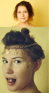 Glitter Hair DIY