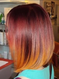 Red Hair with Copper Ombre Formula Wella Color Touch