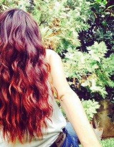 Auburn red hair color