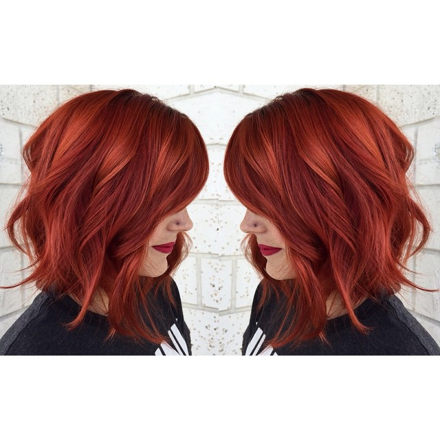 Copper Red Hair Color Hair Colar And Cut Style