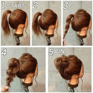 Messy Top Knot Tutorial- Very Easy-